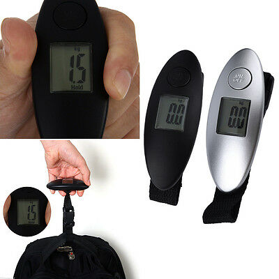 Pocket Portable Mini 40kg LCD Digital Hanging Travel Luggage Weight Scale SW