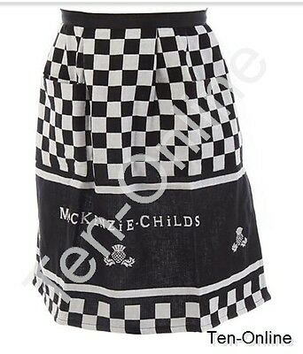 MacKenzie Childs   Black & White Hostess Apron  New