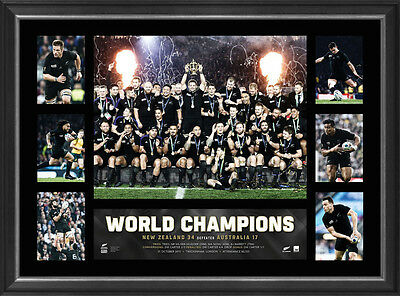 All Blacks 2015 World Cup Champions OFFICIAL RWC Premiergraph Framed DAN CARTER