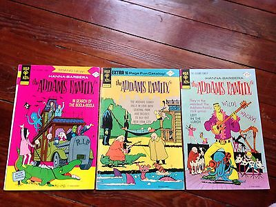 The Addams Family #1 #2 #3 1974 - 1975 complete set cartoon
