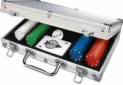 200 Piece Poker Set In Aluminum Carrying Case Spinmaster