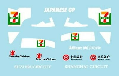 F1 Decals Museum Collection D416 1/43 For Rb2 & Williams Fw28 Asia Gp
