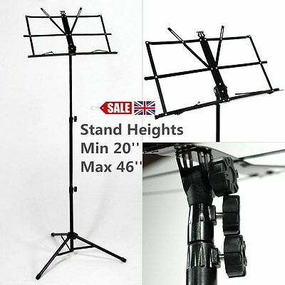 Metal Adjustable Sheet Music Stand Holder Folding Foldable with Carry Case BZR