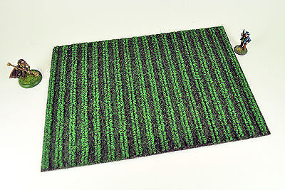 """WARGAME TERRAIN - EMERGING CROPS FIELD, 10"""" x 7"""" (LARGE) - ready for table play!"""