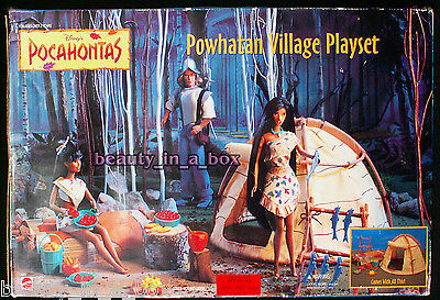 Pocahontas Powhatan Village Playset for Disney Sun Colors Doll DB