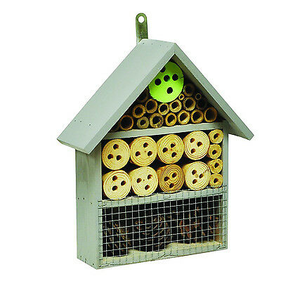 Wooden Hanging Insect Hotel Garden Hibernation Nest Bug Bee House Box HOTEL5