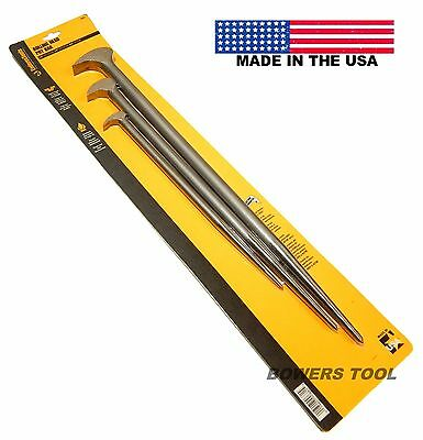 Enderes Tool 3pc Rolling Head Pry Bar Set 12, 16, and 20in. Lengths Made in USA