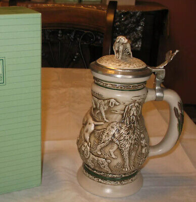 New Original Box Avon Collectibles 1991 Great Dogs Of The Outdoors Beer Stein