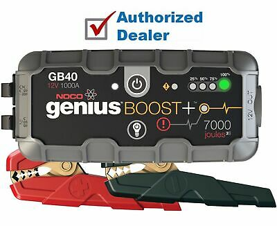 New NOCO Genius Boost Plus + 12V 1000A UltraSafe Lithium Jump Starter Pack GB40