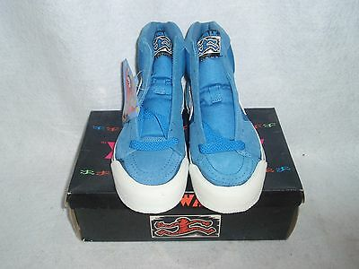 Nos Vintage Airwalk 1One Footwear Digit Tan/blk/light Blue Boys Size 7.5 Sk8 Bmx