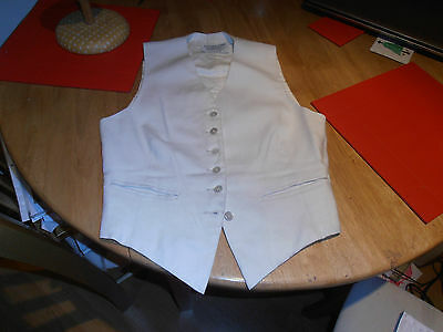 1954 Huntsman of Savile Row  Ladies White Linen FoxHunting Waistcoat Size 34""