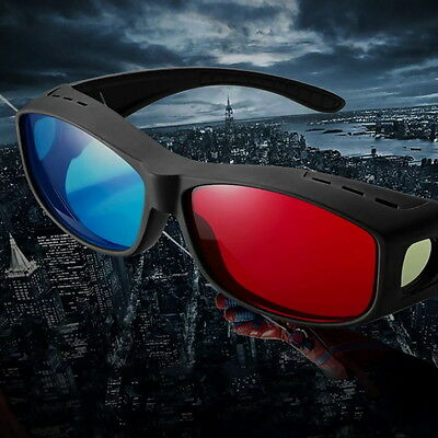 Universal 3D Glasses/Red Blue Cyan 3D glasses Anaglyph 3D Plastic Glasses ZR