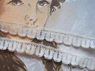 Vintage /antique Small French Ivory Lace Tape Trim   4 Yards