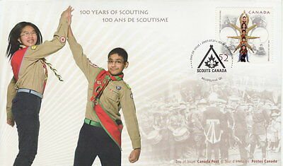 Canada #2225 52¢ 100 Years Scouts Canada First Day Cover