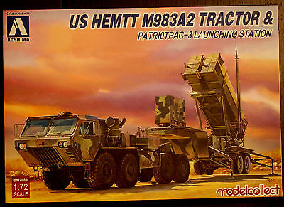 US HEMTT M 983A2 Tractor & Patriot Pac 3 Launching, 1:72, Aoshima Modelcollect