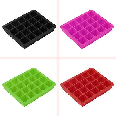 20-Cavity Large Cube Ice Pudding Jelly Maker Mold Mould Tray Silicone Tool ZW