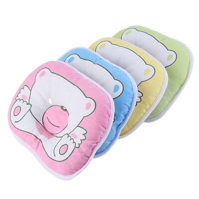 Bear Pattern Pillow Newborn Infant Baby Support Cushion Pad Prevent Flat Head ZW