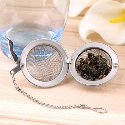 Stainless Steel Kettles Infuser Strainer Tea Locking Spice Egg Shaped Ball? ZR