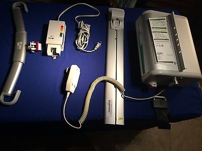 molift quick raiser electric portable patient lift pick up ct patient lift liko likorall overhead 250 es hand control charger new sling nice