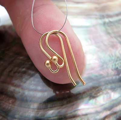 Beautiful Hand Made 24K Gold Vermeil Over Sterling Silver Classy French Ear Wire