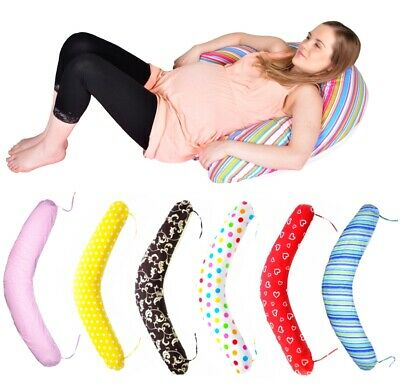 Maternity/pregnancy/nursing support body pillow/cushion with tie cords