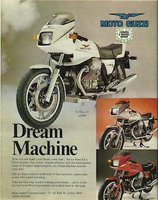 1 Only Orig. 1982 Moto Guzzi Le Mans 3 111 Uk Importer Poster/ad