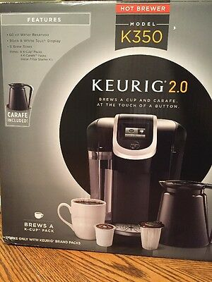 Keurig K350 2.0 Brewing System Coffee Maker New Black Coffee Pot Carafe
