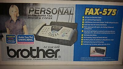 NEW Sealed Brother FAX-575 Plain Paper Thermal Fax, Phone Copier