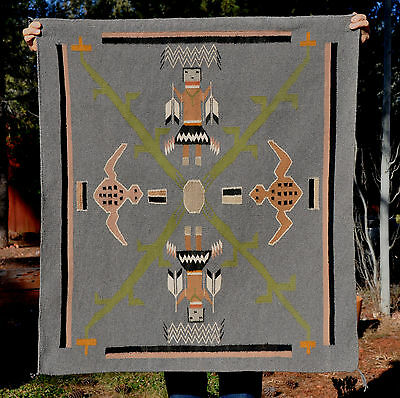 """Vintage Navajo Sandpainting Rug - Mint Condition - 40"""" By 36"""""""