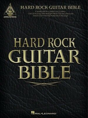 Hard Rock Guitar Bible 2nd Edition TAB Book *NEW* Music Songs 37 Classics