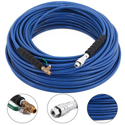 """200Ft Carpet Cleaning Solution Hose 1/4"""" Wand Cuff 3000 Psi W/qdsv Fast Delivery"""