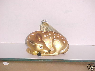 Fawn DEER Old World Christmas glass ornament