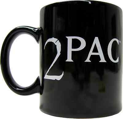 61021 2Pac White Logo Black Coffee Mug Tupac Shakur Cup West Coast Rap Hip Hop