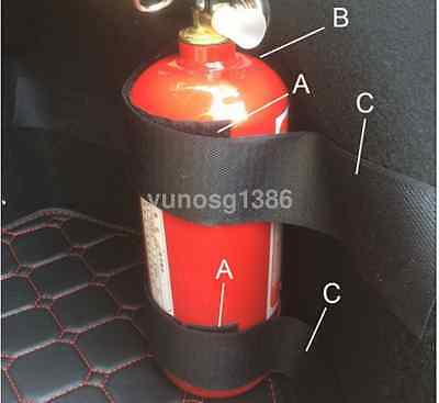 5PCS Black Tie Car Portable Fire Extinguisher Mount Straps Holder Universal US