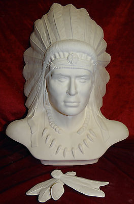 "Ready to Paint ""Chief Bust"" Native American Ceramic"