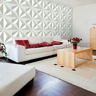 NEW 3D 12 Tiles Covering 32 sq/ft Wall Panel Diamond Design Paintable Home Decor