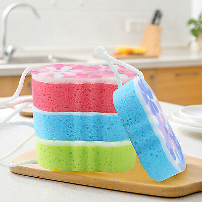 NT Bath Sponge Massage Multi Shower Exfoliating Body Cleaning Scrubber Rated