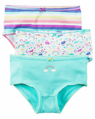 New Carter's 3 Pack Underwear Girls Panties NWT 2T 3T 4T 5T 6 6X 8 Year Dinosaur