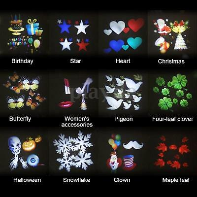 12 Pattern Projector Card For LED Moving Laser Landscape Stage Light Party Xmas
