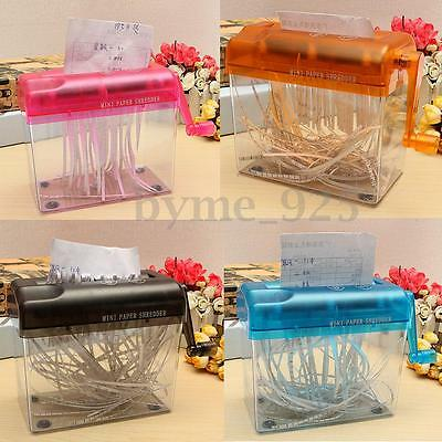 Mini Hand Mechanic Shredder Portable Paper Quilling Fringer Tools Straight-Cut