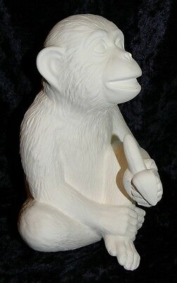 Ceramic Bisque Ready to Paint  Monkey with Banana