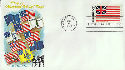 C2113lawA5 USA FDI Flags of American Colonial Days 1968 cover