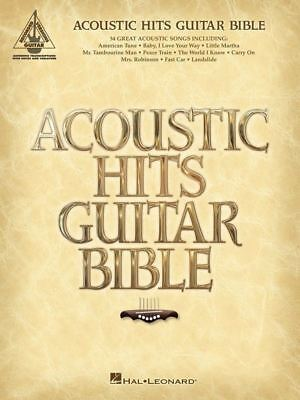 ACOUSTIC HITS GUITAR BIBLE TAB Book *NEW* Guitar Recorded Version Songbook