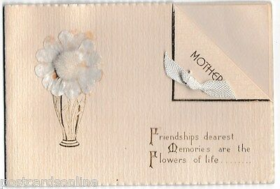 B8333pac Greetings Mother Flowers of Life vintage Greeting Card