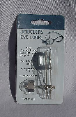 Jewelers Eye Loop Spring Clip 3.3X & 5X combined 16.5X