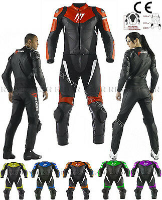 Dainese Avro Style Motorbike Motorcycle 1and2 Piece Leather Suit With CE ARMOUR