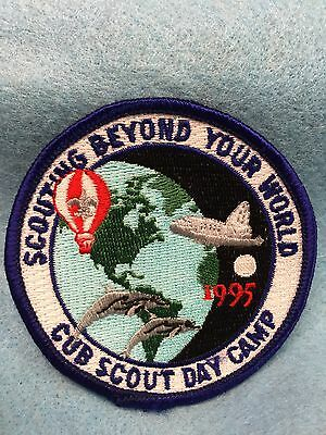 Boy Scouts-  1995 Scouting Beyond Your World - Cub Scout Day Camp patch
