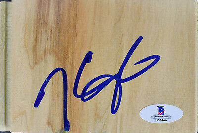 Warriors Kevin Durant Authentic Signed 3.5x5 Floorboard Autographed BAS #B03466