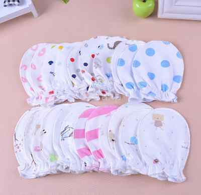 6PCS Newborn Boys/Girls Infant Soft Cotton Handguard Anti Scratch Mittens Gloves