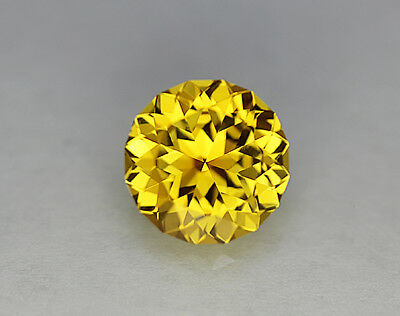 Yellow Sapphire. Lab Grown. Gamma Brilliant Cut.11mm. 6.50cts